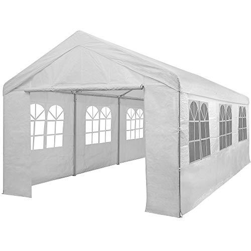 Deuba Partyzelt 6x3m Wasserabweisend 12 Rundbogenfenster 18m² Fläche Festzelt Bierzelt Pavillon...