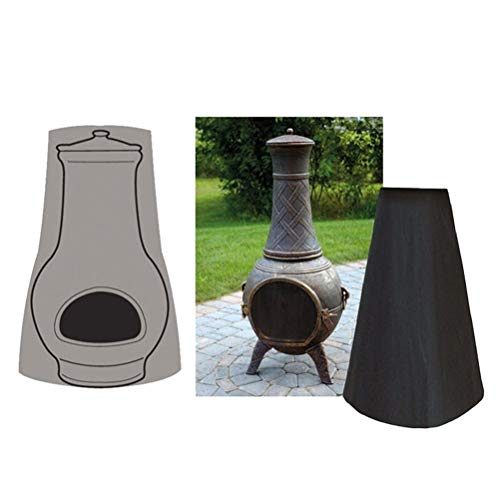 Tixiyu Abdeckung für Terrassen-Kamine, wasserdicht, UV-Schutz, für den Außenbereich, Garten,...