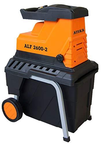 ATIKA ALF 2600-2 Leise-Walzenhäcksler Gartenhäcksler Schredder | 230V | 2600W