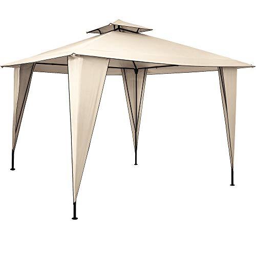 Pavillon Sairee 3,5x3,5m wasserdicht Dachhaube UV-Schutz 50+ Festzelt Partyzelt Gartenzelt Garten...