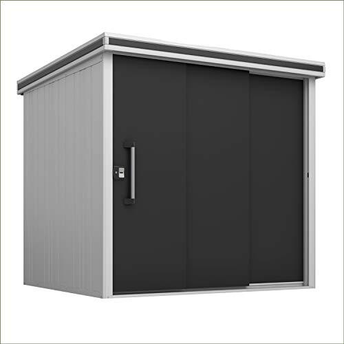 GFP Gerätehaus Manuel 2218 aus Metall, 221x186x218cm - formstabil und witterungsbeständig -...