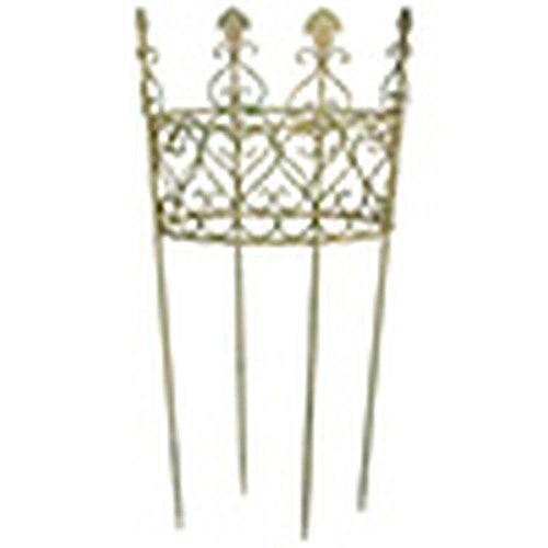 Esschert Design AM Grün Pflanzstütze, rund, 49 x 49 x 100 cm, Rankhilfe aus Aged Metal, gealterte...