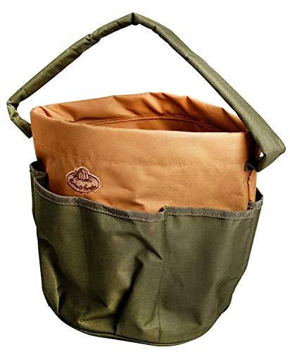 Esschert Design Gartengerätetasche, Werkzeugtasche, rund mit Seitentasche, ca. 28 cm x 28 cm x 26...