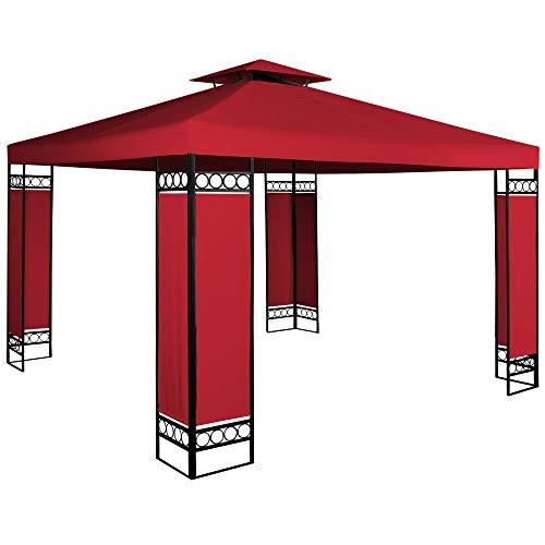 Deuba Pavillon Lorca 3x3m wasserabweisend UV-Schutz Metall Gestell 9m² Festzelt Partyzelt...