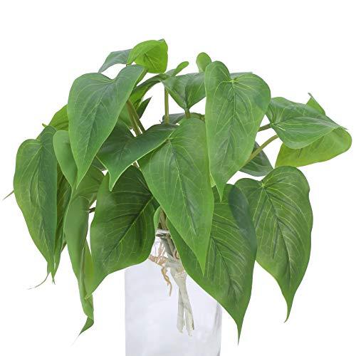 DWANCE 2pcs Dominik Blumen und Pflanzen Kunstpflanzen Efeutute Plastikpflanzen Unecht Pflanzen...