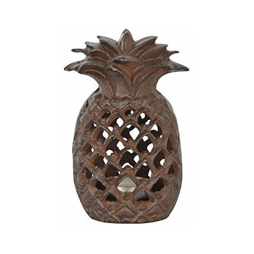Esschert Design Ananas Laterne, 9,7 x 9 x 15 cm, aus Gusseisen, mit Sichtlöchern, stabiler Stand,...
