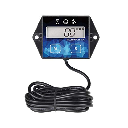 Digitaler Betriebsstundenzähler Drehzahlmesser, Wartungserinnerung, Batterie austauschbar für ZTR...