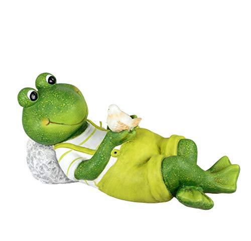 Formano Gartenfigur Frosch liegend Magnesia Dekofigur für den Garten Balkon oder Terasse (A -...