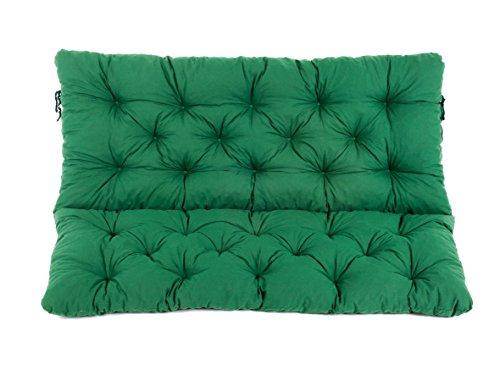 Ambientehome 2er Bank Sitzkissen und Rückenkissen Hanko, grün, ca 120 x 98 x 8 cm, Bankauflage,...