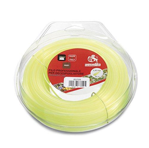 Ausonia - 83722 Faden für Rasentrimmer Rahmen gelb 4,0 mm x 30 m