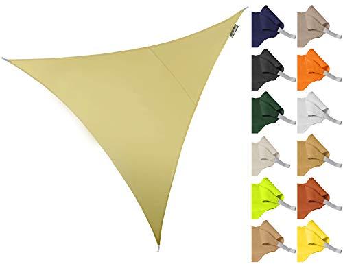Kookaburra Sonnensegel Wasserabweisend 2,0m Dreieck 96.5% UV Schutz für Garten und Balkon...
