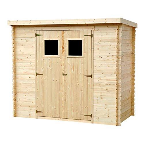 TIMBELA Holzhaus Gartenhaus M310+M310G - Gartenschuppen Holz mit Boden Imprägnierte B239xL142xH200...