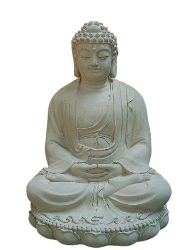 Steinfiguren Horn Buddha ca. 60 cm Groß, Frostfest