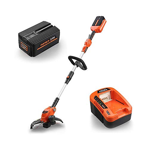 Fuxtec Akku Rasentrimmer E312D 40V Lithium li Batterie Geräte wie Motorsense Freischneider/Trimmer,...