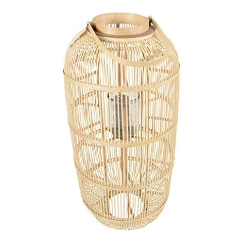 Lesli Living Windlicht Kerzenhalter Laterne Kathmandu ø45x97cm Bambus