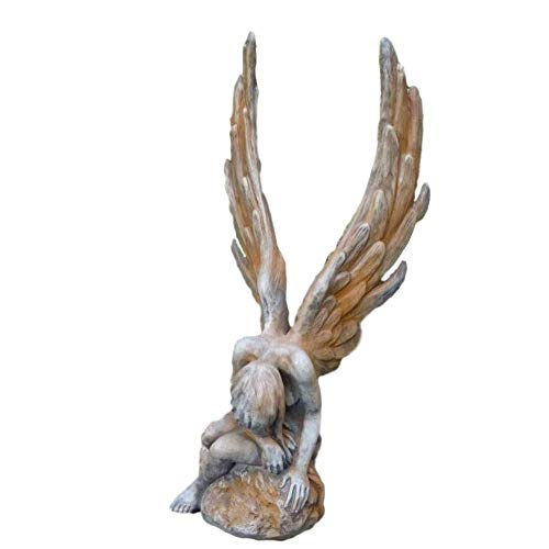 Steinfiguren Horn Engel Athene Rostoptik