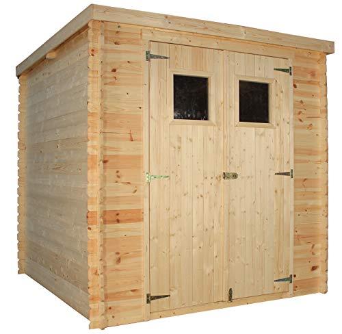 TIMBELA Holzhaus Gartenhaus M309 - Gartenschuppen Holz B204xL204xH202 cm/ 3.53 m2 Lagerschuppen für...
