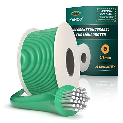 kanoo® Begrenzungskabel für Mähroboter – Universell kompatibel – Begrenzungsdraht aus...