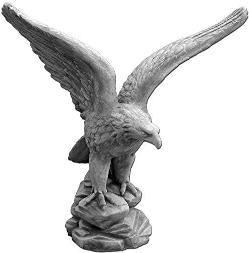 gartendekoparadies.de Herrlicher massiver Stein - Adler Blickrichtung Links aus Steinguss, frostfest