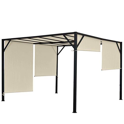 Mendler Pergola Baia, Garten Pavillon Terrassenüberdachung, stabiles 6cm-Stahl-Gestell +...