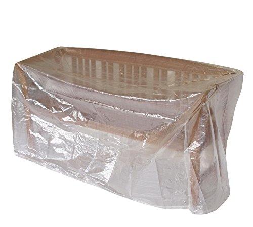 DEGAMO Abdeckhaube für Gartenbank 4-sitzer bis 193cm, PE transparent