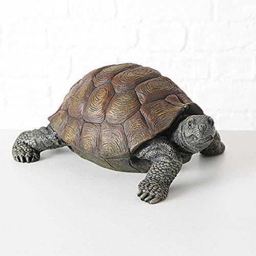 Schildkrötenfigur, Deko-Figur Schildkröte aus Kunstharz, ca. 34 cm x 25 cm x 14 cm
