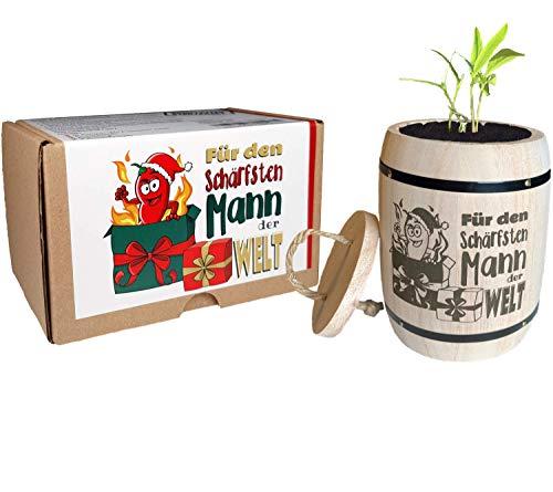 Geschenk für Männer Weihnachten - Anzuchtset Chili Für den schärfsten Mann der Welt -...