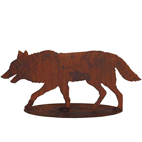 Saremo 440s Rost-böser-Wolf auf Platte L ca 85 cm   SA-RotW80P   4260553564060
