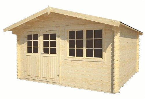 Gartenhaus Saale Gerätehaus Blockhaus ca. 400 x 400 cm 34 mm doppelte Nut+Feder