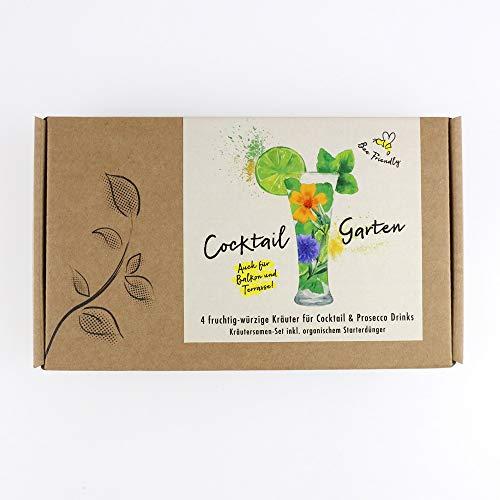COCKTAIL GARTEN Geschenkbox - Samen von 5 fruchtig-würzigen Kräutern für Cocktail & Prosecco...