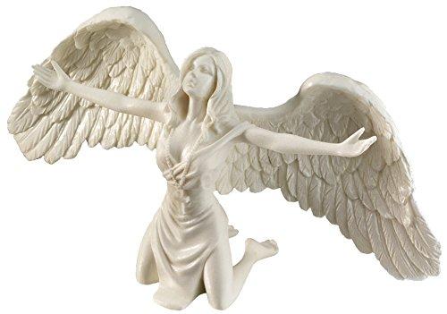 Design Toscano Beten für den Frieden, Engelsstatue aus Marmor-Kunstharz