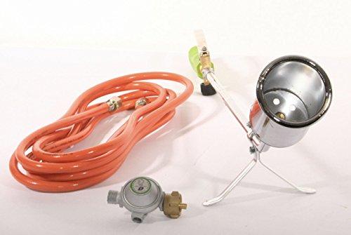 Grodenberg Abflammgerät PQ830 Gasbrenner im Set inkl. Druckminderer und 5m Gasschlauch...