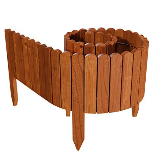 Floranica® Flexibeler Beetzaun 203 cm (kürzbar) aus Holz als Steckzaun Rollborder, Beeteinfassung,...