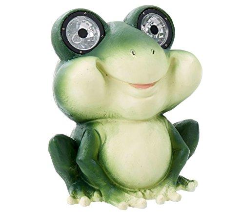 Dehner Dekofigur Solarleuchte Frosch Fridolin ca. 31.7 x 26.7 x 26.7 cm, Kunststoff/Polyresin,...