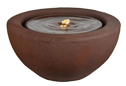 Heissner Gartenbrunnen Half Ball Terracotta LED
