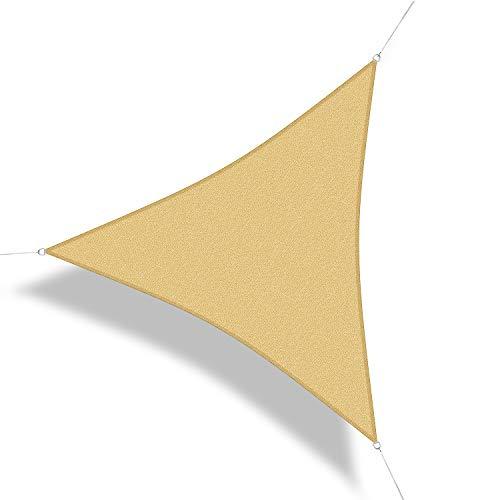 Corasol 111166 Premium Sonnensegel inkl. Zubehör, 3,6 x 3,6 x 3,6 m, Dreieck, Wind- &...