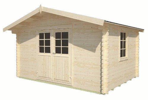 Gartenhaus Elbe Gerätehaus Blockhaus ca. 400 x 300 cm 34 mm doppelte Nut+Feder