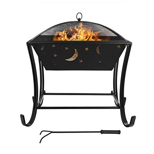 GARTIO Feuerschale mit Grillrost Multifunktional Fire Pit für Heizung/BBQ Grill,Feuerkorb mit...