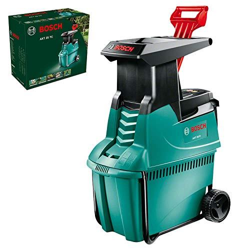 Bosch AXT 25 D Häcksler + Fangbox 53 l + Stopfer (2.500 W, max. Ø 40 mm Schneidekapazität, ca....