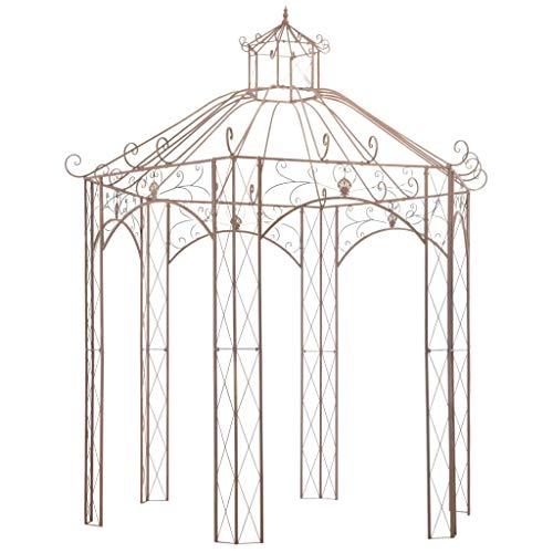 Festnight Gartenpavillon | Metall Pavillon | Rosenpavillon | Eisenpavillon | Antikes Braun...
