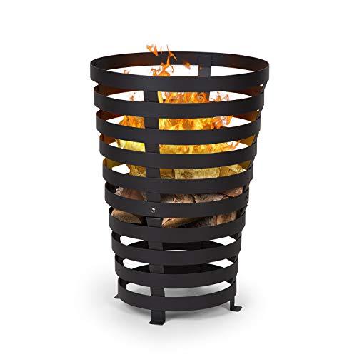 blumfeldt Verus - Feuerkorb aus Stahl, 42 cm Feuerstelle, Stabiler Stand, Vier robuste Füße,...