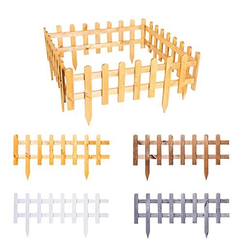 BooGardi Steckzaun aus imprägniertem Holz zum Abgrenzen Anthrazit 40 x 93,5 cm 4er Set in...