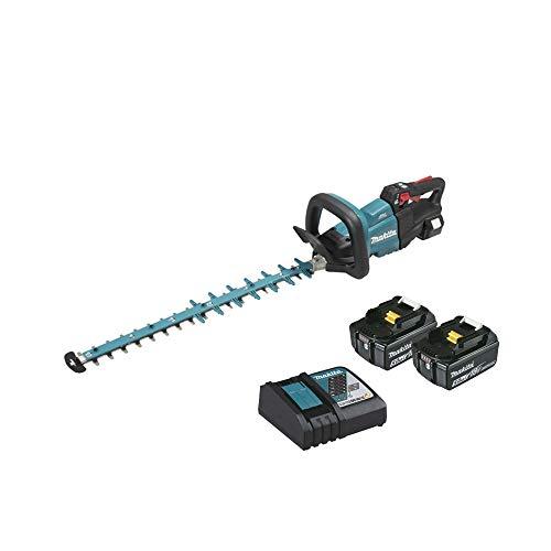 Makita DUH602RT2 Heckenschere + 2 Akkus 18 V Li-Ion 5 Ah 60 cm, blau