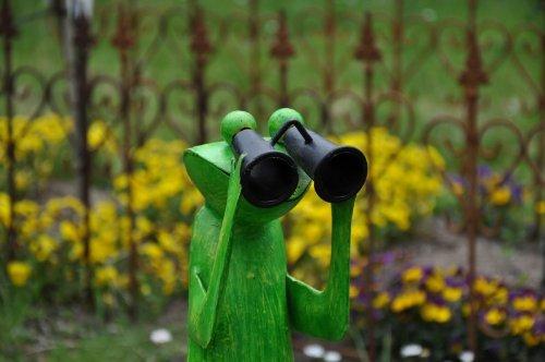KUHEIGA Spanner Frosch, Höhe: ca. 52 cm, Gartenfigur