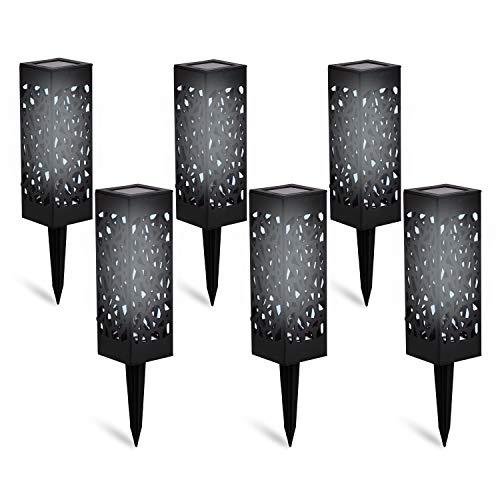 DECO EXPRESS Solarlampen für Außen, 6er Pack LED Solarlampen Fackeln, Wasserdichte Solar Laterne...
