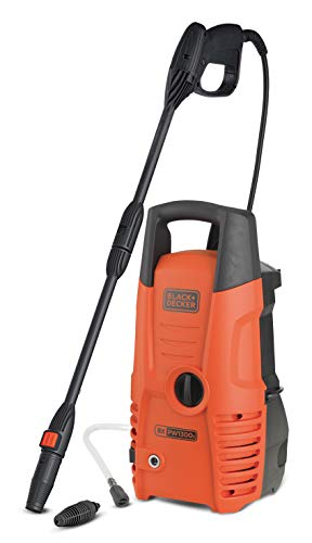 Black + Decker PW1300S Black and Decker 14075 Hochdruckreiniger, 1.300 W, 100 bar, Universalmotor,...