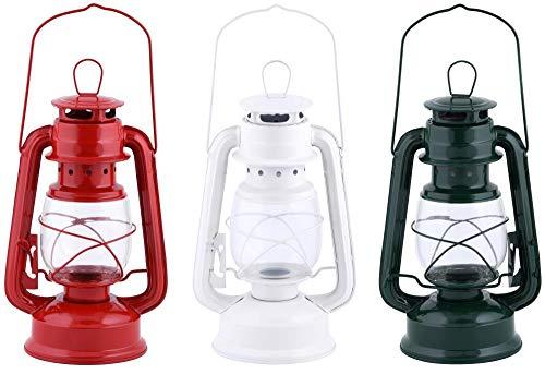 Esschert Design Windlicht Laterne aus Metall/Glas, 15 x 11,5 x 24 cm, mit Transportbügel und...