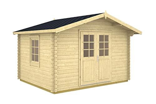 Gartenhaus ALABAMA 28 Blockhaus Holzhaus 355 x 294 cm - 28 mm Schuppen NEU