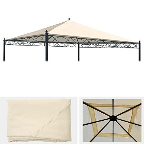 Mendler Ersatzbezug für Dach Pergola Pavillon Cadiz 4x4m ~ Creme