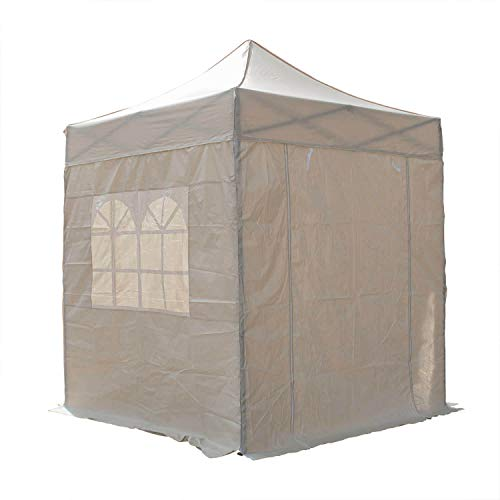 Airwave Four Seasons Essential Pop-Up-Pavillon mit Seiten, 2 x 2 m, Beige / cremefarben